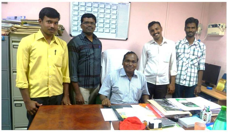 Prof. N. Jayabalan Research Unit (left to right) M. Vigneswaran, S. Sivakumar, N. Jayabalan (Head of the Unit), G. Siva, and G. Prem Kumar (corresponding author)